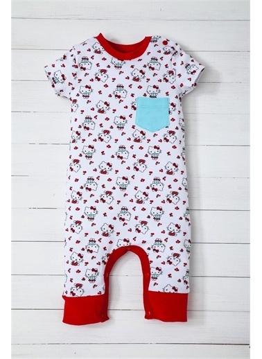 Disney Hello Kitty Kısakol Tulum Kız Bebek Giyim Kırmızı